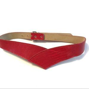 Vintage 80's Red V- Shaped Belt
